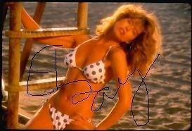 Orig 35mm Slide Julianne Phillips of Baywatch in Bikini