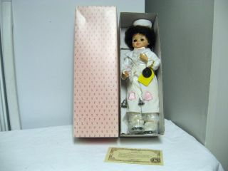 Porcelain 14 June Calendar Clown Doll Original Box COA