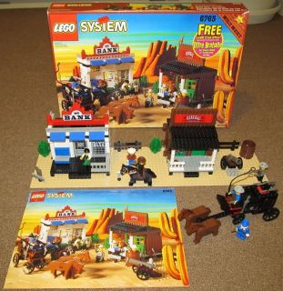 Lego Set 6765 Wild West Gold City Junction Complete w Box Instructions