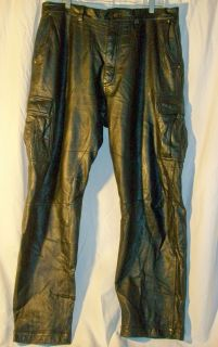 Julian Wilsons Leather Pants Mens 36 37 Waist Inseam 34 Black Bikers