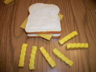 Play Food ~ Cheese Sandwich Fries~ Kids Kitchen Pretend Just Like Home