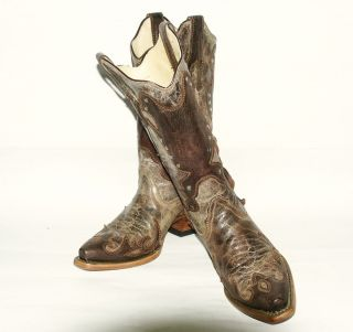Womens Corral R1050 Tobacco Brown Fashion Western Boot with Conchos