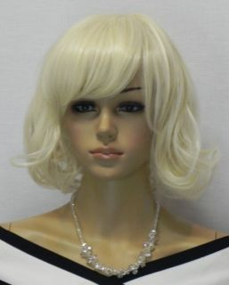 Cosplay New Light Blonde Short Curly Wig