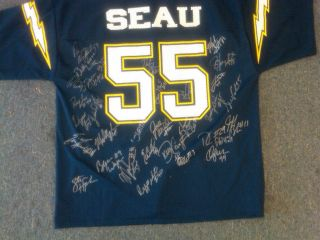 1994 San Diego Chargers Team Signed Jersey Junior Seau