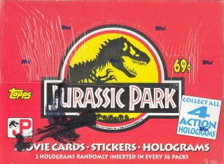 Jurassic Park Movie Series 1 1993 Trading Card Box