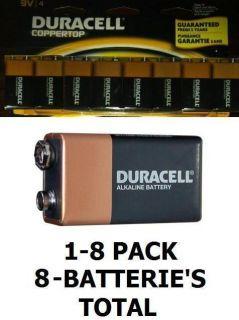 Pack Duracell Coppertop 9V Batteries Battery New SEALED 8 batterie