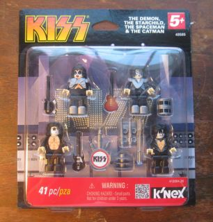 Knex KISS Rock Band SIMMONS 41 pc Demon Starchild Spaceman Catman NIP