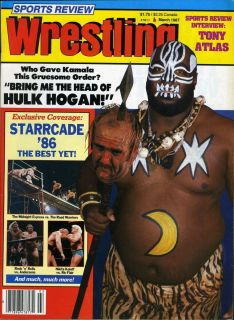 Hulk Hogan Kamala Sports Review Wrestling Magazine March 1987