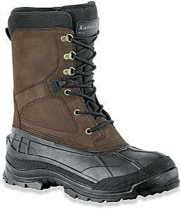 Kamik Mens Nation Plus Waterproof Insulated Suede Winter Boots