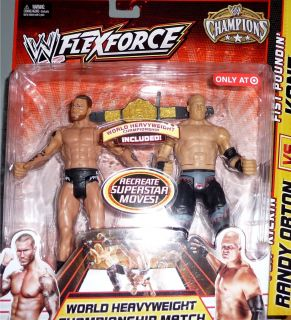 KANE vs RANDY ORTON Exclusive FlexForce Champions WWE Mattel Toy
