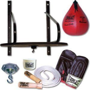 Everlast 6 PC Piece Speed Bag Punching Set Boxing Work Out Cardio UFC
