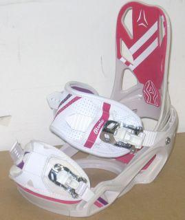 Atomic Elise Small White New 2011 2012 Womens Snowboard Binding