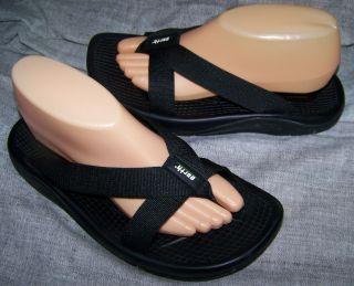 Kalso Earth Cabo San Lucas VEGAN Black Strap Thong Sandals EUC Size 9