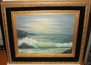 Karen Armstrong Original Oil on Canvas Seascape Painting