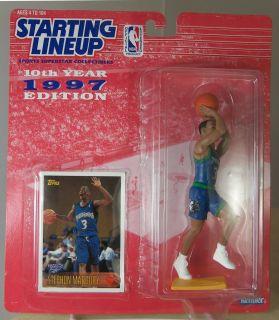 KARL MALONE UTAH JAZZ NBA BASKETBALL ACTION FIGURE NOC 1997 STARTING