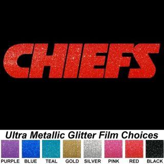 Kansas City Chiefs Text 13 Ultra Metallic Auto Car Truck Window