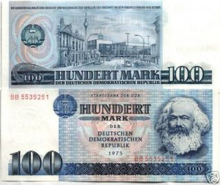 Germany RARE Gem Uncirc 1975 100M Bill w Karl Marx Retail $100