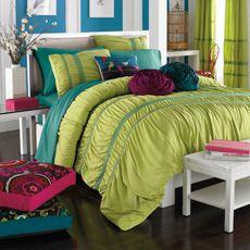 KAS Eloise Green Apple Queen Full Comforter Set