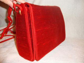 RARE Donna Karan Burnt Orange Silk Shoulder Bag