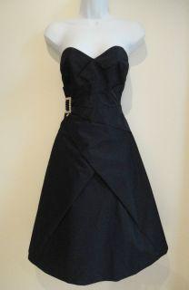 Karen Millen Black Silver Buckle Cocktail Dress   Size 8   Excellent