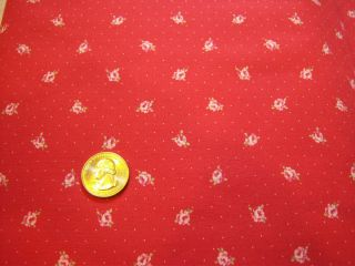 Petite Fluer Red BTY by Lecien Fabrics Quilt Quilting Fabric Cotton