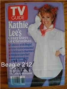 Kathie Lee Gifford Signed TV Guide 12 1994 Autographed