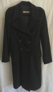 Katharine Hamnett London Black Four Button Winter Peacoat Sz S