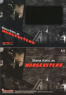 Autograph Unsigned Card Stana Katic as Morgenstern RARE Castle