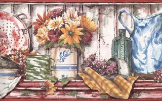 Sunworthy Country Kitchen Wallpaper Border
