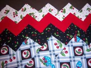 Mary Engelbreit Very Cherry Collection 4 Fabric Quilt Quilting Squares