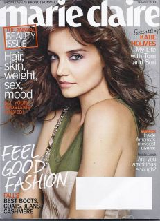 Marie Claire Magazine Katie Holmes Beauty Boots Jeans