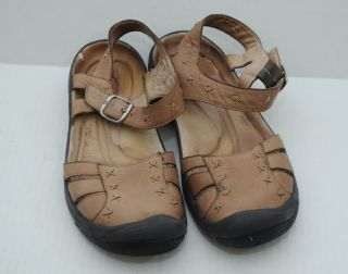 Womens Tan Leather Keen Sandals Mary Janes Size 7
