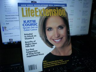 Magazine March 2005 Katie Couric Speaks on Colon Cancer