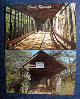 Duck Springs Covered Bridge Keener Alabama 2 Postcards