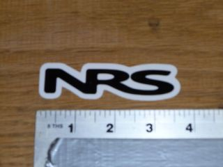 NRS Whietwater Kayaking Black Sticker Decal