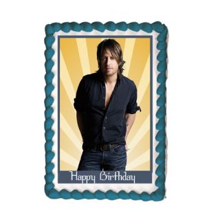 Keith Urban Edible Cake Image Party Decoration Custom