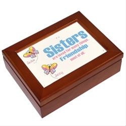 Personalized Sisters Friends Personalized Keepsake Box