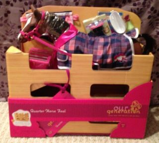 New Our Generation Quarter Horse Foal with Accessories for Doll 18