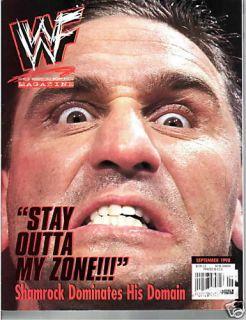 Ken Shamrock WWE WWF Magazine September 1998 Droz Kane