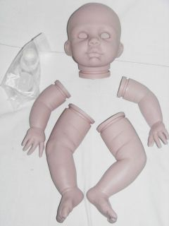 Reborn Baby Doll Kendal Kit Ready to Reborn Head Limbs Plugs Neck Ring