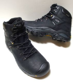 NEW mens KEEN steel toe work boots UTILITY black WATER PROOF size10 L