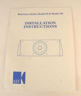 Vtg Instruction Manual KEF Reference Series Loudspeaker Model 90 100