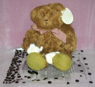 Teddy Bear Avon Praying Prays Talks Plush Stuffed Animal w Slippers 12