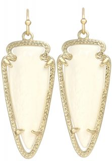 Kendra Scott Sky Dangle Earrings Mother of Pearl 14K Gold Plated White