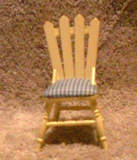 New w O Box Dollhouse Furniture Picket Fence Chair