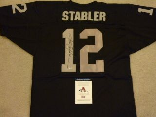 Ken Stabler Signed Auto Oakland Raiders Jersey AAA Autographed