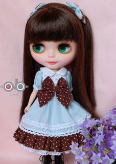 Ribbon Sweety Dress Set for Kenner Blythe Doll Doll Outfit Baby Blue