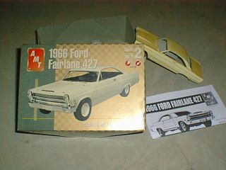MODEL CAR KIT 1/25th Scale 1966 Ford Fairlane (barely started in Box