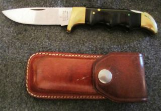 VINTAGE KERSHAW KAI JAPAN 1050 POCKET KNIFE WITH ORIGINAL LEATHER