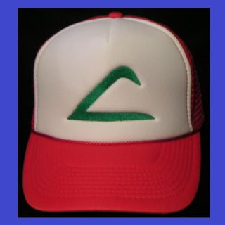 Pokemon Hat Ash Ketchum Trainer Hat Adult sz Costume Cap ships from